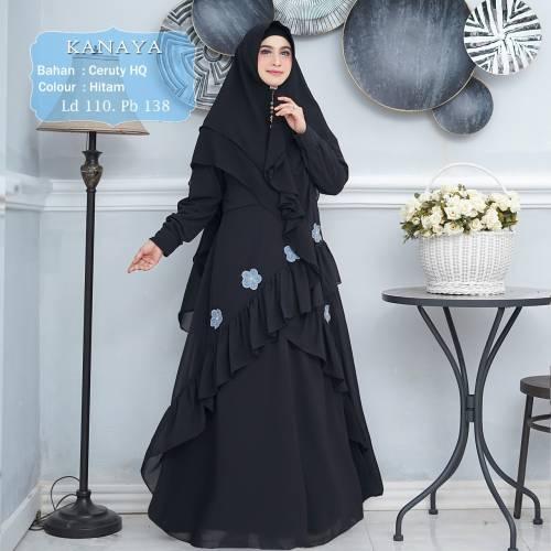 Syari Ceruty Kanaya Black