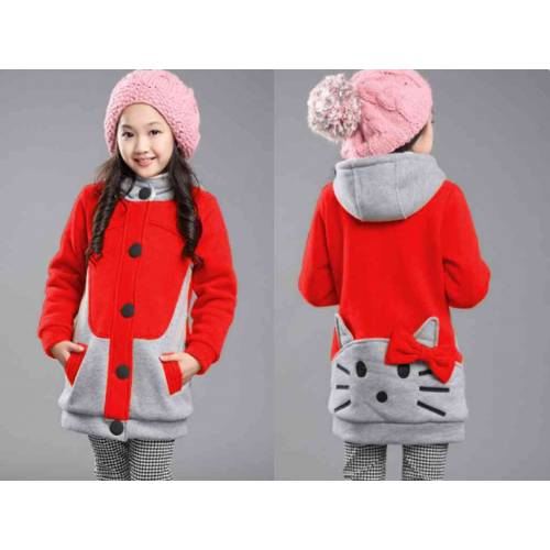 Kid Hello Kitty Merah combi Abu
