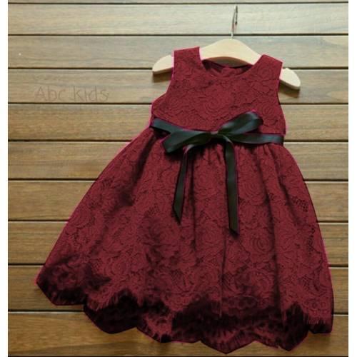 dress liesel MAROON kids