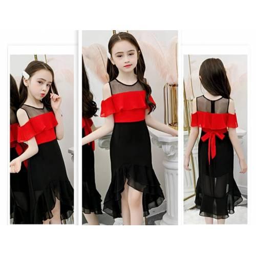 Kids Dress Mona red