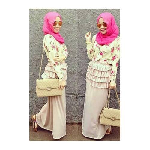 Set flowe hijab
