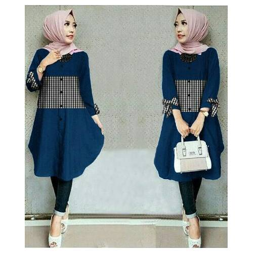 tunix ribbon kotak navy