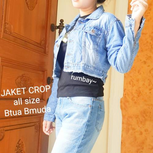 Jaket crop rumbai soft