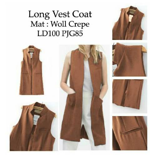 long vest coat mocca