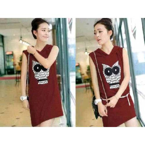 Dress OWL Maroon