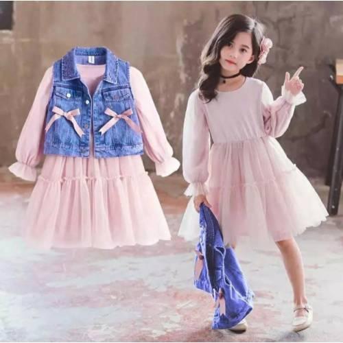 Dress Rompi 587 blue