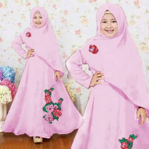 Syari Anak Naura Baby Pink