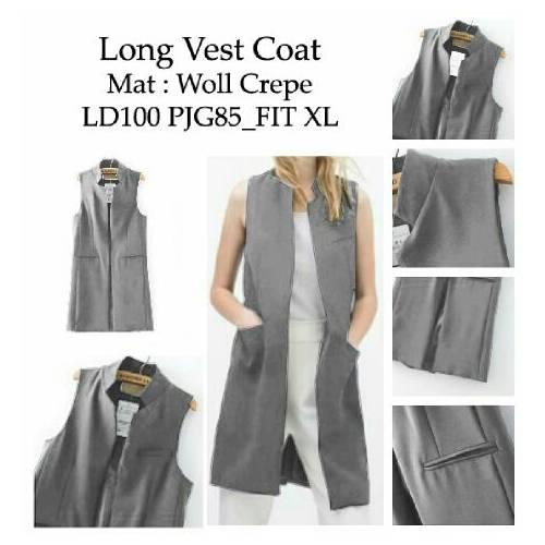 long vest coat grey