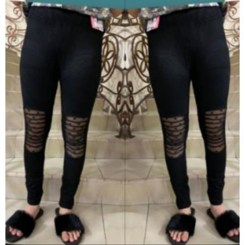 Legging stret import tile black 821