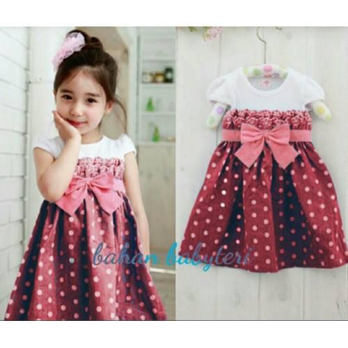 dress Pingkan kids MAROON