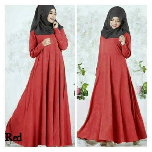 Hijab busui andira red