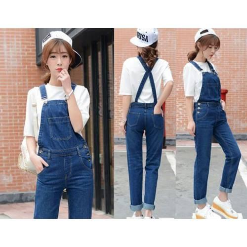 Eva overall jeans dark blue