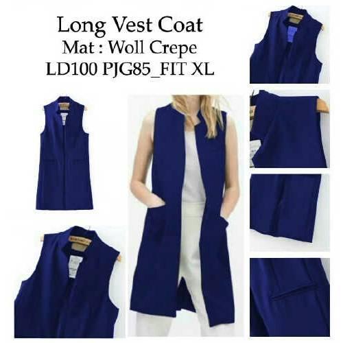 long vest coat navi