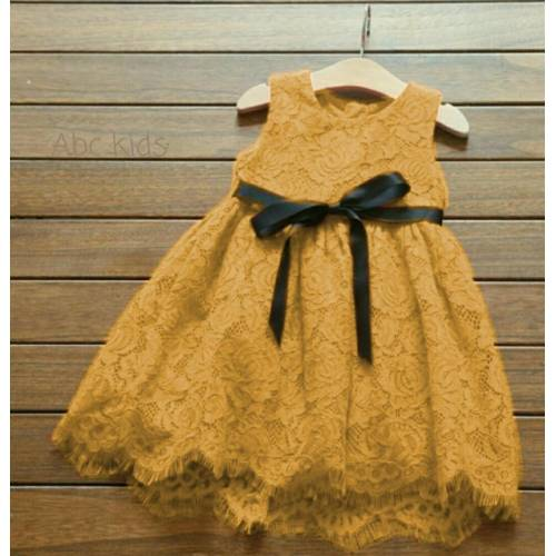 dress liesel mustard kids