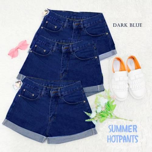 Hot pant summer dark blue