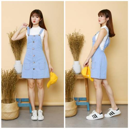 Overall Rok Jeans soft blue