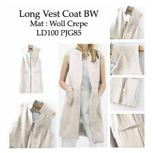long vest coat white