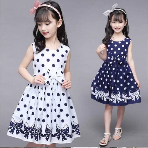 Kids polka ribbon