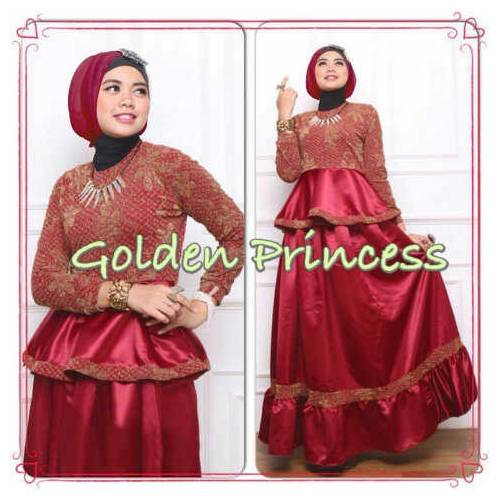Gamis golden princess