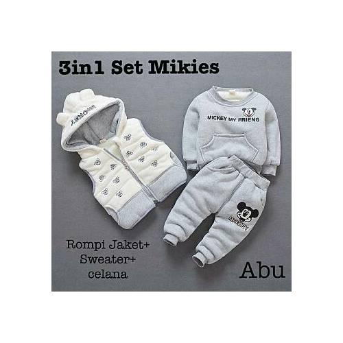 3IN mikies set grey