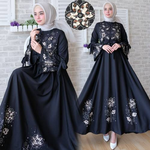 Maxi flower BLACK