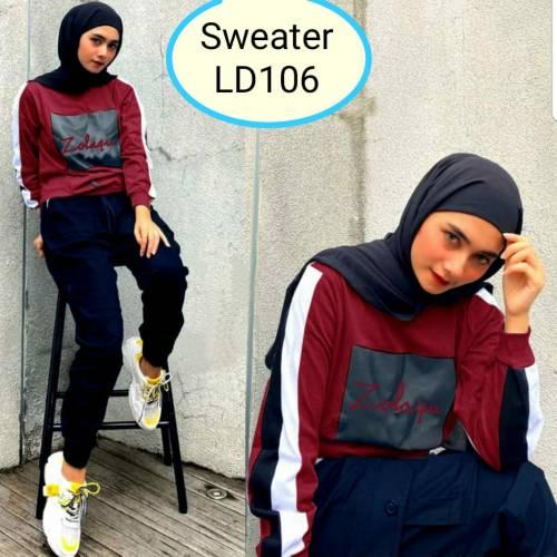 Sweater Zolaqu Maroon