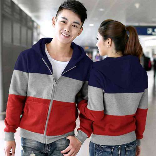 Couple Jaket Rainbow Navy