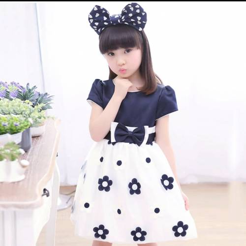 Dress kids Bee flower navi