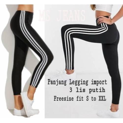 Legging import 3 list white