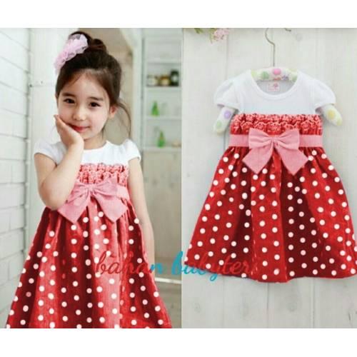 dress Pingkan kids RED