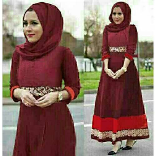 NEW hijab nurhaliza marron
