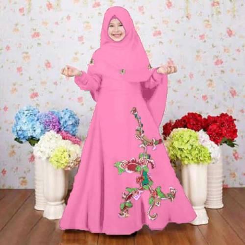 Syari Anak Nastusha Baby Pink