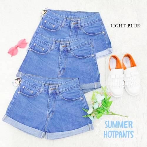 Hot pant summer light blue