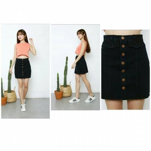 Jeans fela skirt black