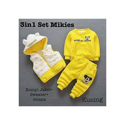 3IN mikies set soft yellow