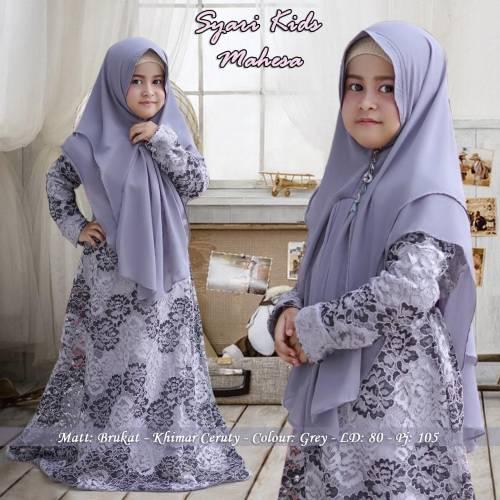 Syari Kids Mahesa Grey