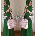 hijab polkie hijau