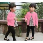 Knit cardi kid pink