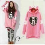 mickey stripe hoodie