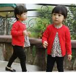 Knit cardi kid red