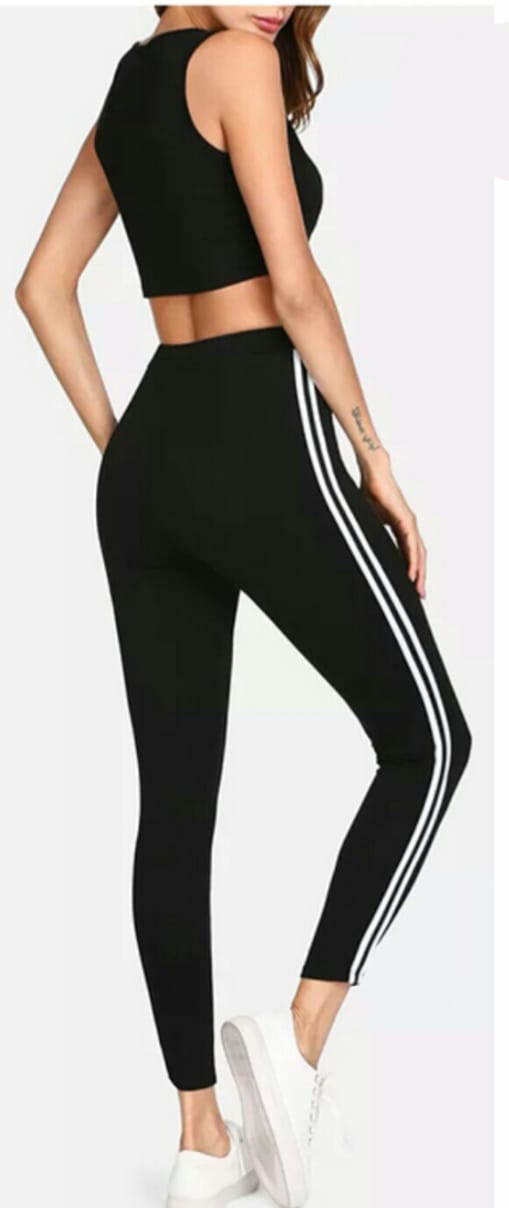 Legging Import List White Fashionista Grosir